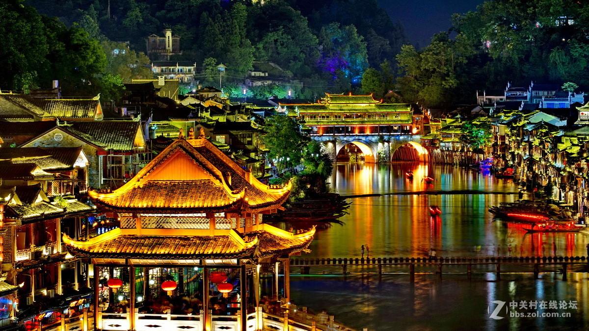 湘西凤凰古城夜景