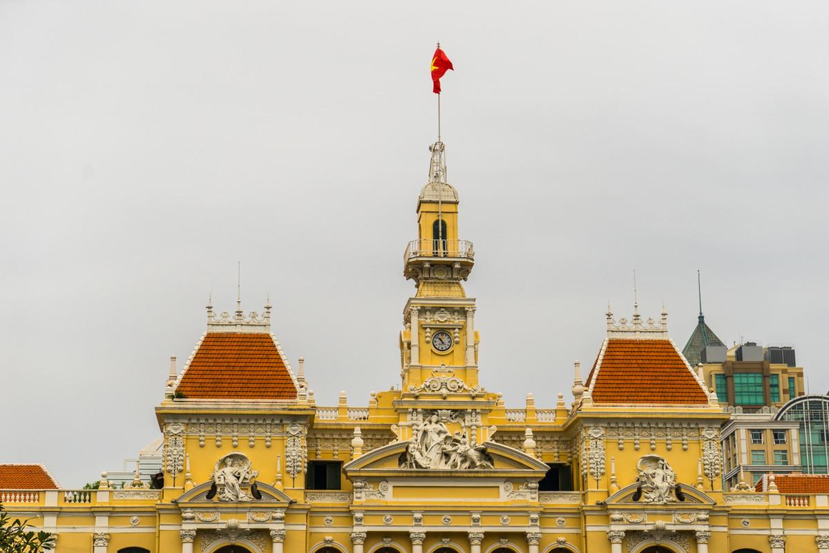 胡志明市市政厅和华人街天后宫