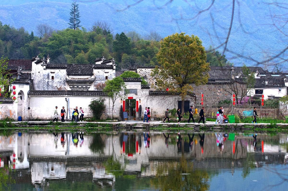 风景秀丽的安徽宏村