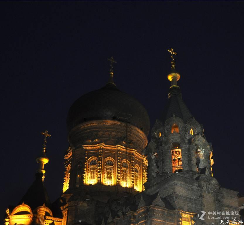 哈尔滨索菲亚教堂之夜